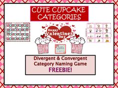 Hello!  Thank you for stopping by to check out our latest freebie.  This is a sweet one.  It is designed to help increase categorization skills in your students this coming Valentine's Day. This game could be used with a variety of pre-k to 4th grade students.