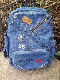 """Купить Рюкзак джинсовый """"Special for you"""" - тёмно-синий, с карманами, джинсовый стиль, джинс"""