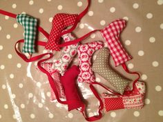 Christmas bunting.....If you want to make your OWN Xmas decorations, clothes and gifts you can - at our weekly Stitch Classes in Brighton & Hove! www.sewinbrighton.co.uk/stitchclasses.html