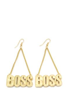 Dangling Boss Earrings $7.50