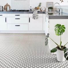 Ronda Grey Vinyl Flooring 3 Metre Wide