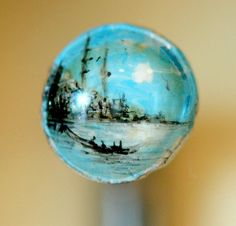 Istanbul view on a nail by Hasan Kale