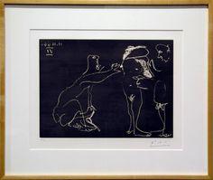 Pablo Picasso - Femme Nue se cachant le visage, avec deux hommes | 1stdibs.com