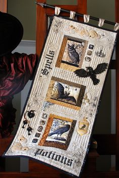 Ticket Strips quilt pattern designed by Sew Many Creations now available for purchase. Halloween Quilt Patterns, Halloween Quilts, Halloween Sewing, Halloween Crafts, Quilting Projects, Quilting Designs, Quilt Design, Quilting Ideas, Diy Projects