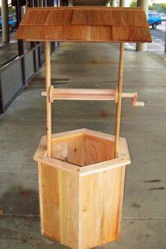 5' Cedar Wishing Well DIY Kit by CedarAndMore on Etsy