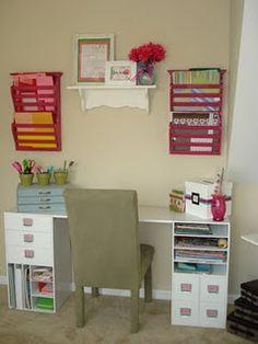 Spare room desk