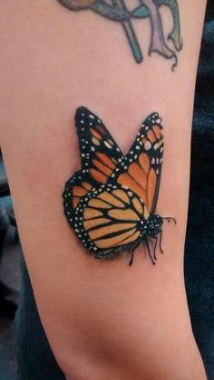 lower back tattoo women Butterfly Ankle Tattoos, Realistic Butterfly Tattoo, Butterfly Sleeve Tattoo, Colorful Butterfly Tattoo, Butterfly Tattoos For Women, Butterfly Tattoo Designs, Flower Tattoos, Butterfly Wings, Semicolon Butterfly Tattoo