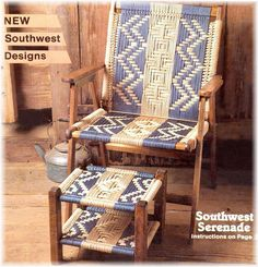 Patterns for Macrame Lawn Chairs | ... MACRAME CORDING LAWN CHAIRS 14 SOUTHWEST Designs PATTERN BOOK Chair