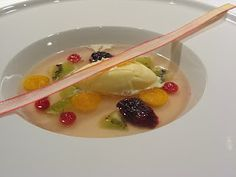 Rhubarb Soup - Chef Partick O'Toole for Julius Fritzner Restaurant Oslo