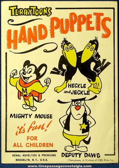 Gumball machine header card...Terrytoons