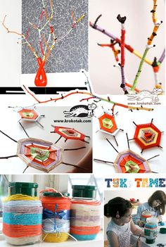 Easy YARN AND TREE BRANCHES Activities