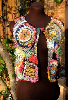 Gilet en crochet-free par Suzannepeint.