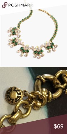 """J.Crew Jade Crystal Chandelier Necklace New With Out Tag Gorgeous Crystal Necklace. Never been worn in excellent new condition.  Length is 16 1/4"""" with a 2 1/4"""" extender. J. Crew Jewelry Necklaces"""