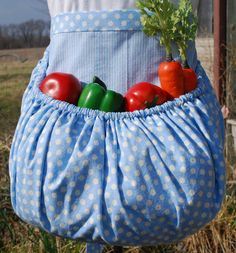 Garden Harvest Apron by TumbleweedJunction on Etsy