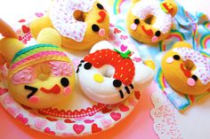 Cute Handmade Donuts - These are definitely not from Dunkin's.    #Food #donuts #cute