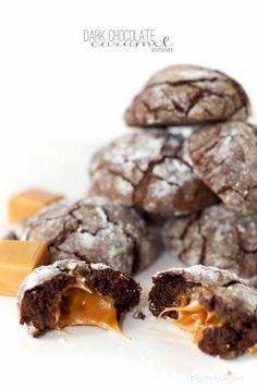 dark chocolate caramel krinkles // bigredclifford.com #cookies #blogherholidays #5ingredients