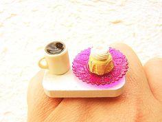 Kawaii Ring Food Coffee Cake Miniature Food
