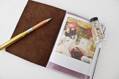 Traveler's Notebook Passport Size (with zipper case accessory) $7 #stationary #travel #Japanese #papergoods