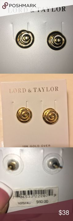 Lord Taylor earrings These earrings are so bright, lightweight and the back Clip it's super easy to use., never worn you can see the tags!!  ✨Ships 📦 next day✨ Lord & Taylor Jewelry Earrings
