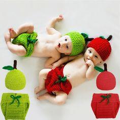Newborn Photography Props Knit Costume Prop Outfits Photo Photography Baby Hat Photo Props Baby Girls Boys Fotografia #Affiliate