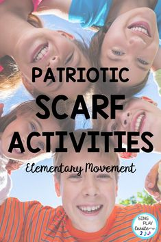 Patriotic Creative Movement Scarf and Ribbon Activities will give your preschool and elementary students activities to increase their Brain Power! Great for Brain Breaks, Indoor PE, Special Needs and Music Teachers. Perfect for Patriotic Holiday activities. #singplaycreate #musiced #elementarymusiceducation #veteransdaymusic, #musicedveteransdaylessons, #musiceducationveteransdaylessons, #veteransdaymusiclessons #movementactivities #patrioticmovementactivities