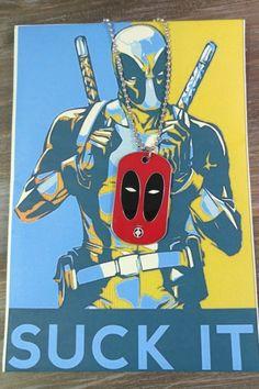 Ανδρικό κολιέ Deadpool Men Necklace, Deadpool, Darth Vader, Marvel, Necklaces, Fictional Characters, Chain, Fantasy Characters, Wedding Necklaces