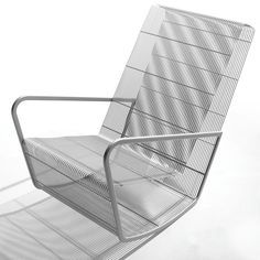 Wire rocker, steel mesh & powder coated color. Outdoor & patio furniture. Outdoor Chairs, Outdoor Furniture, Outdoor Decor, Powder Coat Colors, Wall Lights, Ceiling Lights, Egg Designs, Steel Mesh, Daybed
