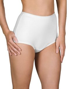 CLICK IMAGE TWICE FOR PRICING AND INFO :) #women #panties #lingerie #briefpanties #intimates #undergarment see more granny panties at http://zpanties.com/category/panties-categories/granny-panties/ - Shadowline Cotton Briefs, Panties, Style 17021, White, Sz 10 (Pkg of 3) « Z Panties