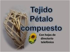 Tejido pétalo compuesto cestería con papel periódico -  basketry with ne...