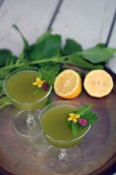 Lemon Balm Martini