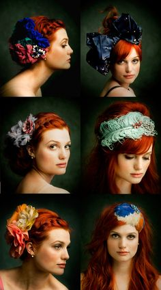 I would love to do a series with fun hair and feathers! Love the style of this compilation