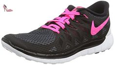 Nike Free 5.0, Chaussures de Running Compétition femme, Noir (Black/Pink  Power