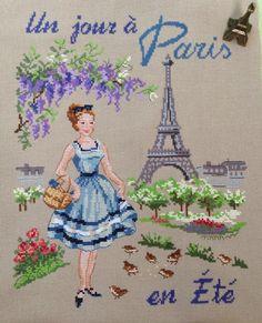 Я сегодня снова с парижанкой! Моя парижаночка уже гуляет по летнему Парижу, все вокруг в зелени и цветах.... мммм...скоро и у нас буде...