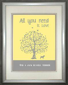 Jack Russell Terrier Art Print Jack Russell by DIGIArtPrints, $10.00