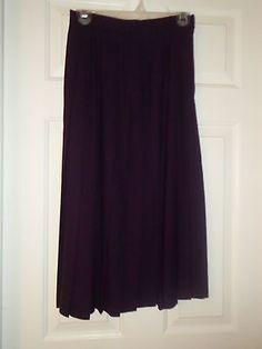 Women's Fall Fashion Skirt 4P Purple Wool Skirt Mid-Calf Pleated Winter Talbots | eBay