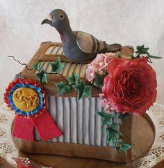 Racing Pigeon Cake Decorations