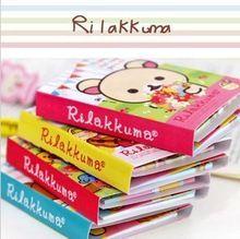 Kawaii opvouwbare 4 rilakkuma memo kladblok, nota boek en memo pad, sticky notes memo set, gift stationery kcs(China (Mainland))