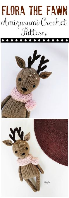 Darling Flora the Fawn Deer Amigurumi crochet PATTERN ONLY   handmade deer PDF   crochet pattern   crochet amiguumi pattern ...#afflink