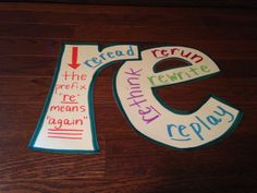 Prefixes and Suffixes- cute, simple idea to help students see the prefixes/suffixes in action!