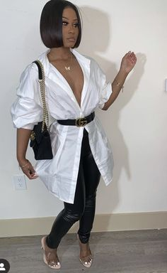 how to style outfits Boujee Outfits, Dressy Outfits, Stylish Outfits, Fashion Outfits, Black Girl Fashion, Look Fashion, Vetement Fashion, Going Out Outfits, How To Look Classy
