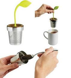 plant sprout tea infuser