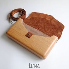 Lemnia Handcrafted Wooden Bag Heart by AtelierLemnia on Etsy