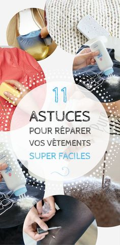 11 ASTUCES POUR REPARER VOS VETEMENTS SUPER FACILES Costumes Couture, Techniques Couture, Thing 1, Slow Fashion, Diy Clothes, Helpful Hints, Sewing Projects, Sewing Ideas, Easy