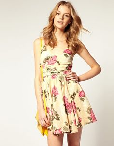 ASOS Printed Summer Dress with Twist Bust -- On Sale for $30.55