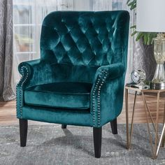 Tomlin Teal Club Chair