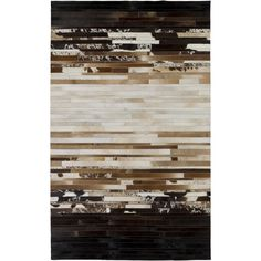 Hand-Crafted Rosalind Animal Leather Rug (2' x 3') - Overstock™ Shopping - Great Deals on Accent Rugs