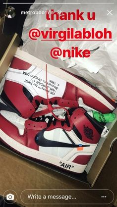Metro Boomin just got his pair of Off White x Jordan 1 Chicago shoes