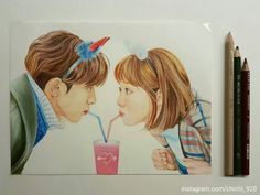 Weightlifting Fairy Kim Bok Joo Fanart, Weightlifting Fairy Kim Bok Joo Wallpapers, Kpop Drawings, Art Drawings Sketches, Realistic Drawings, Colorful Drawings, Strong Girls, Strong Women, Kdrama