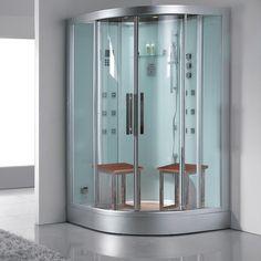 Ariel Platinum DZ962F8 White Steam Shower 47.2x47.2x89