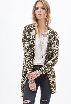 Tribal Pattern Cardigan | Forever 21